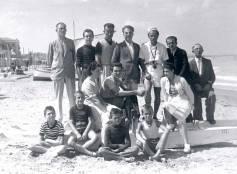 Cattolica, spiaggia, 1940 circa.