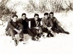 Cattolica, 1955, fotoricordo di amici sul bosco di Via Macanno