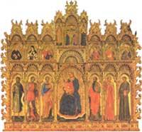 Jacobello da Bonomo - Polittico sec. XIV Chiesa Collegiata di Santarcangelo