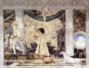 Affresco - rappresentazione di Sigismondo Pandolfo Malatesta