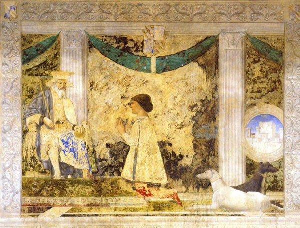 Affresco - Tempio Malatestiano di Rimini - Sigismondo Pandolfo