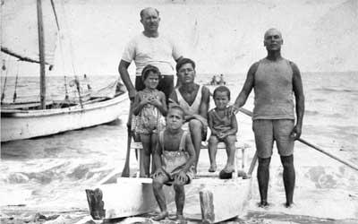 Bagnino della spiaggia di Ponente a Cattolica - anni '30