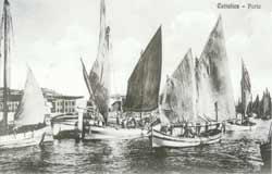 Porto di Cattolica - foto d'epoca