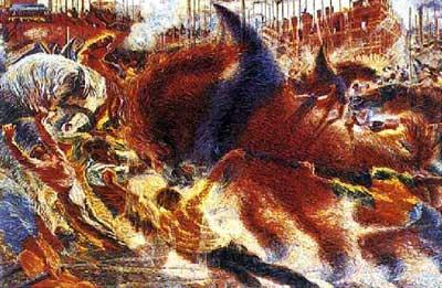 """Umberto Boccioni: """"La città che sale"""", 1910-11"""