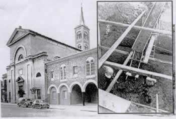 Settembre '50, posata la prima pietra del campanile della Chiesa di San Pio V