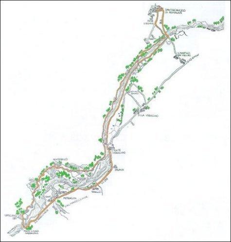 Itinerario ciclistico Santarcangelo - Montebello - Santarcangelo