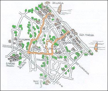 Itinerario ciclistico Bellaria - La Torre - Donegaglia - Igea Marina