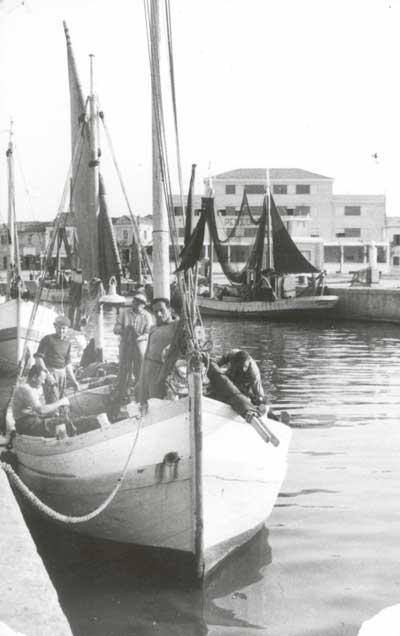Portocanale Gabicce Mare - Cattolica, primi anni Cinquanta.