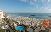 Panorama della spiaggia di Cattolica