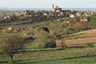 Panoramica di Coriano e del suo comune