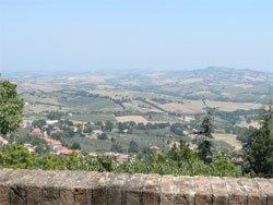Vista panoramica da Montegridolfo