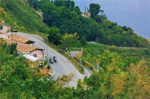 la strada panoramica da Gabicce Mare a Pesaro