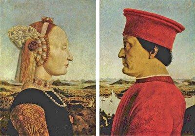 Piero della Francesca - Ritratto di Battista Sforza e Federico da Montefeltro