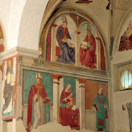 Il santuario di Valliano - particolare degli affreschi