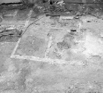 Area Pritelli: al centro dell'area archeologica, i muri delineano il perimetro di due grandi ambienti,intorno ai quali si collocavano vasche e piccoli impianti